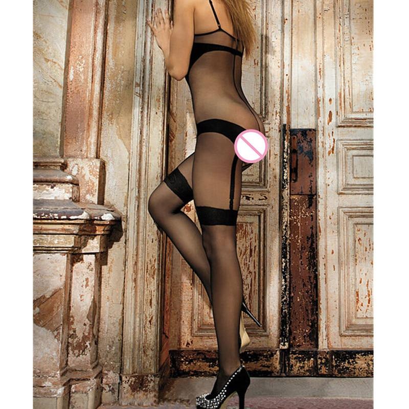Shiny Crotchless Full Body Bodystockings
