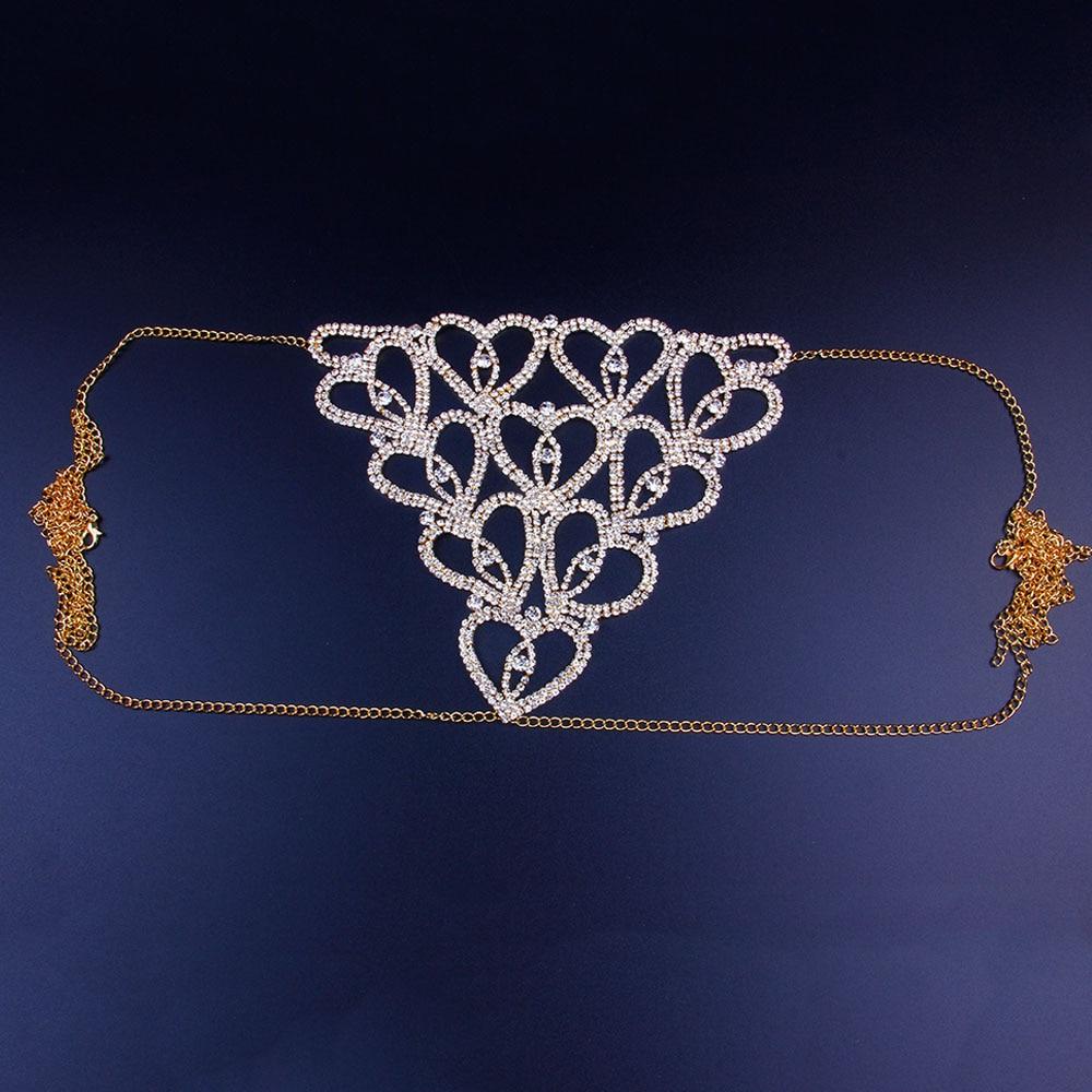 Chain Rhinestone Thong for Women