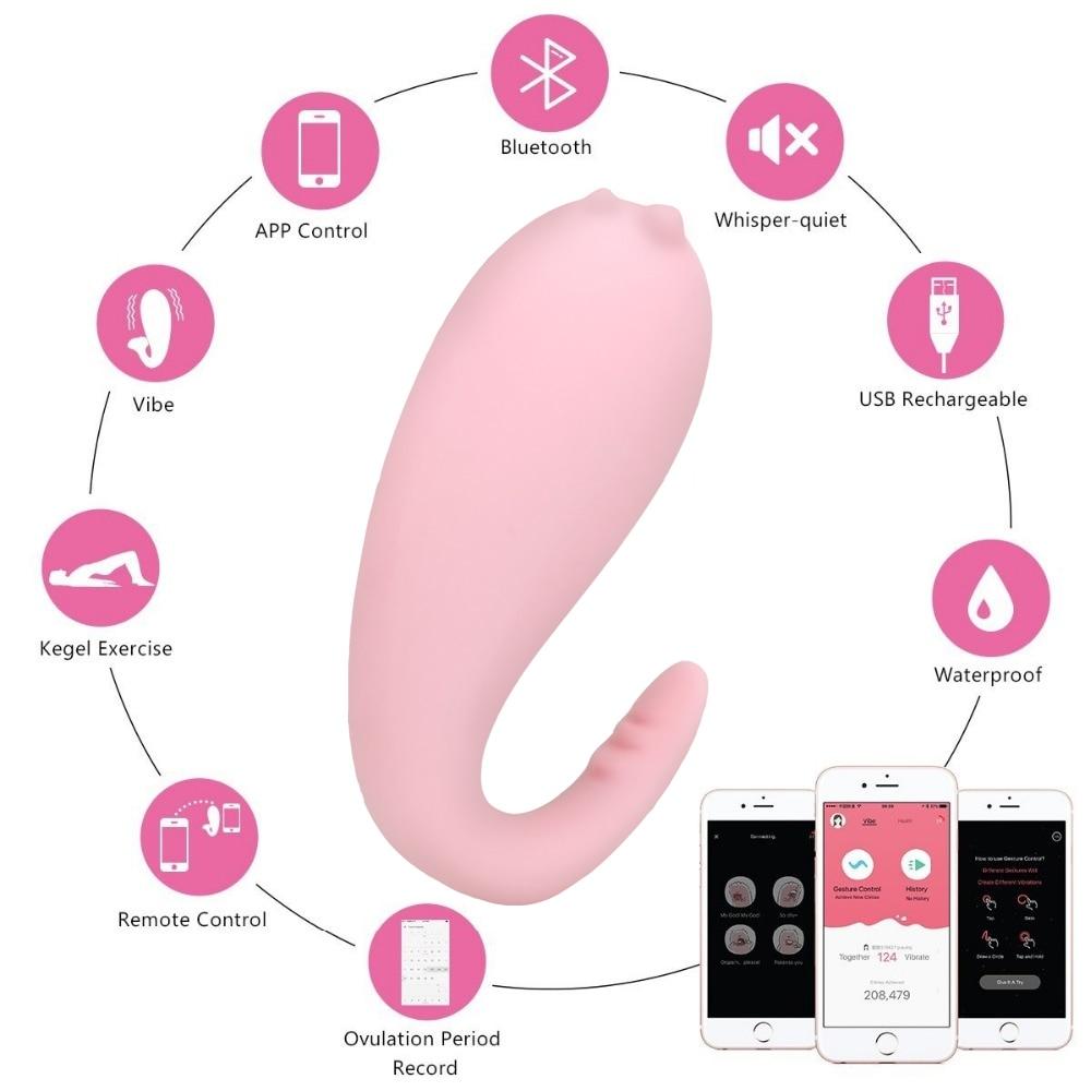 Bluetooth Silicone Vibrator for Women