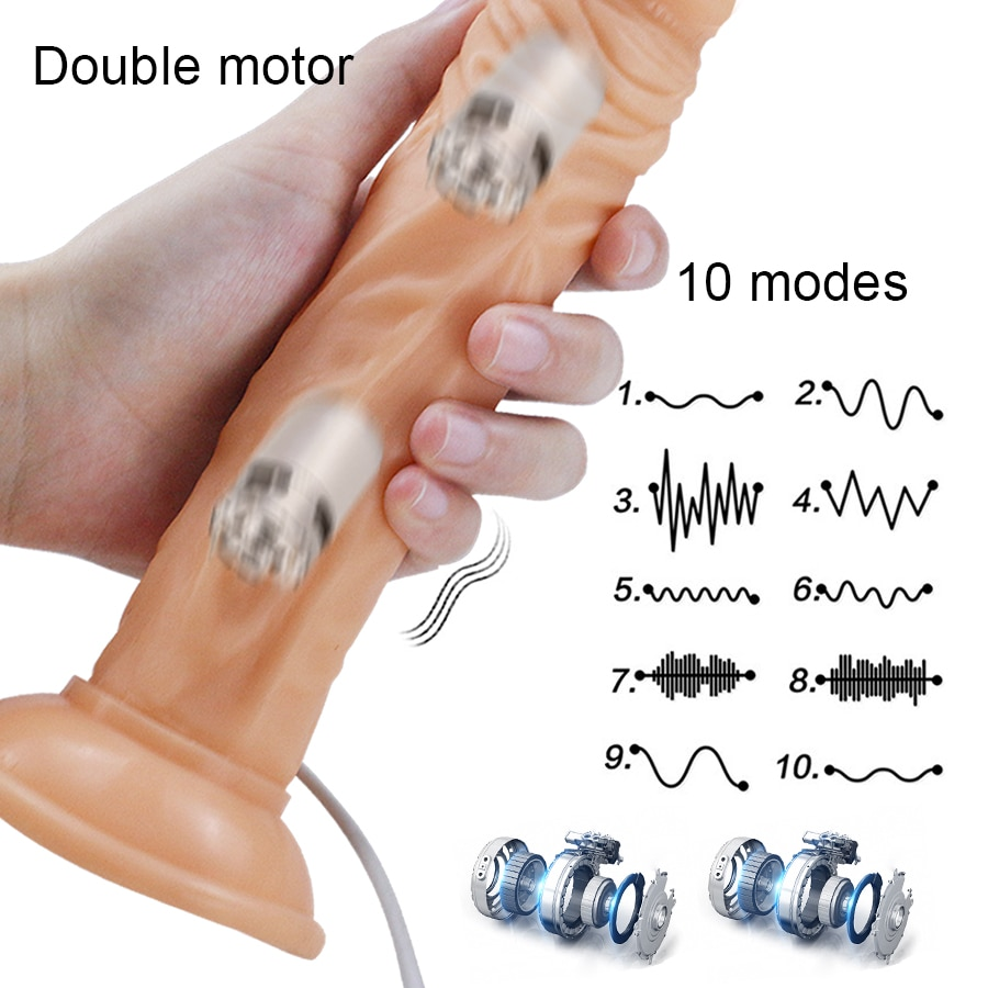 Realistic Huge Vibrator with Suction Cup